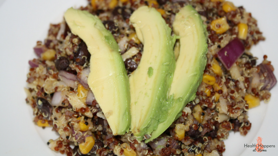 Taco Quinoa Salad. Read now or pin for later. - Health Happens at Home