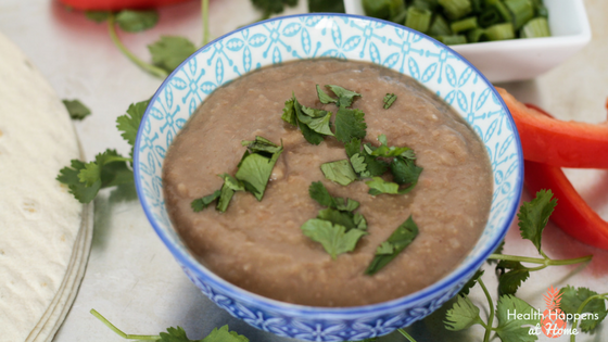 #thereciperedux Slow Cooker Refried Beans. Read now or pin for later. - Health Happens at Home