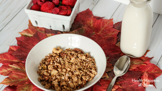 Orange Cranberry ancient grain granola recipe. #thereciperedux Read now or pin for later. - Health Happens at Home