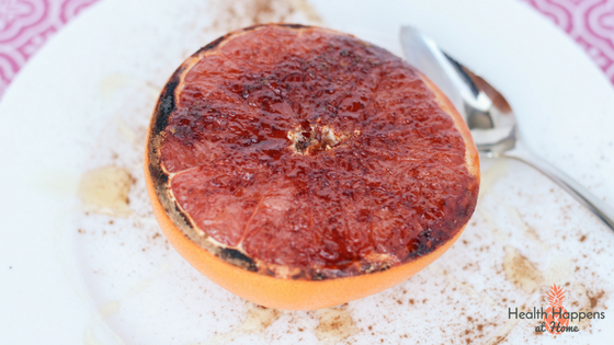 Cinnamon Grapefruit Recipe. Read now or pin for later. - Health Happens at Home