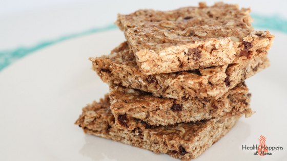 Chewy Granola Bar recipe. Read now or pin for later - Health Happens at Home