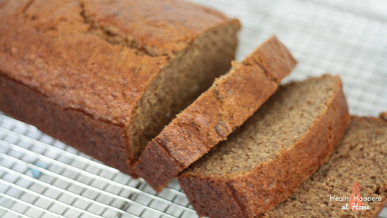 Banana Bread Recipe. Read now or pin for later - Health Happens at Home #thereciperedux