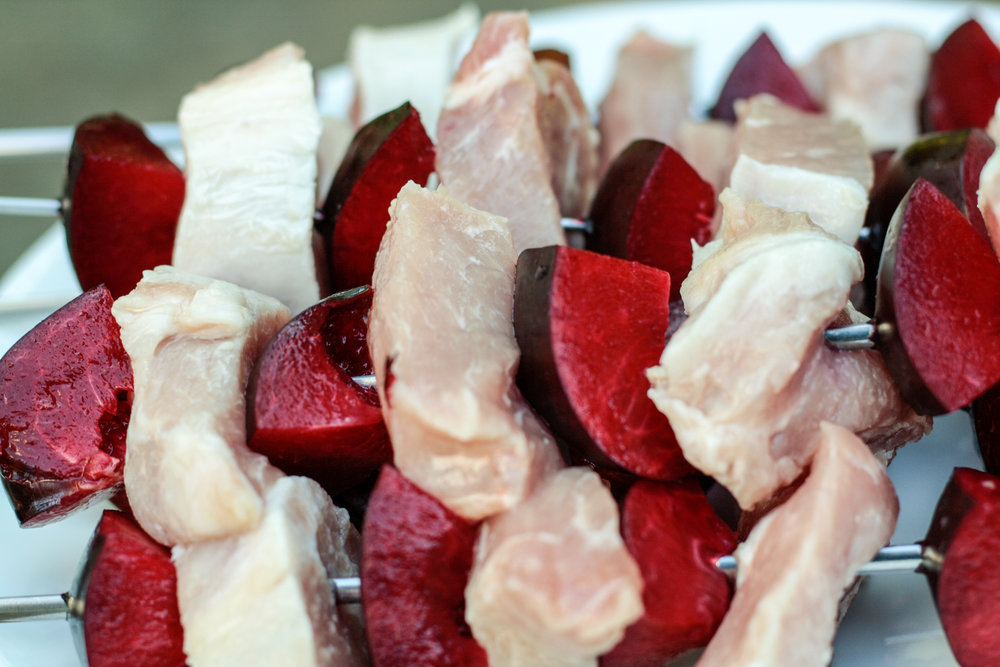 Pork and Plum Kebab Recipe. Read now or pin for later. - Health Happens at Home