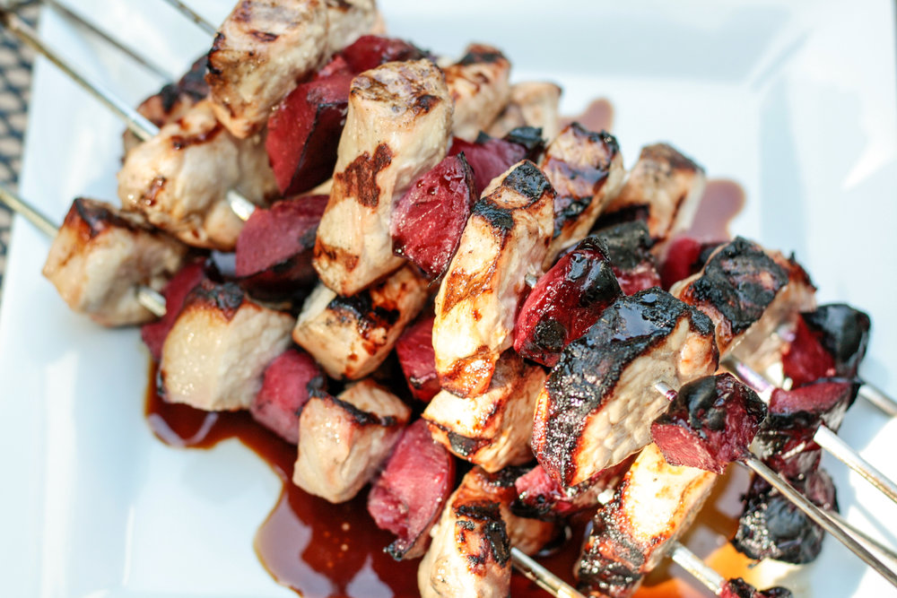 Simple Pork and Plum Kebab Recipe. Read now or pin for later. -  Health Happens at Home