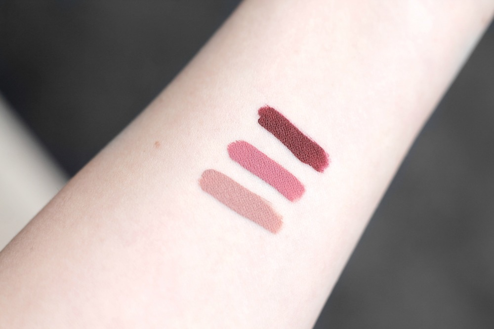 Swatched In Natural Light: Caramello, patina and ricco. (Dry swatches)