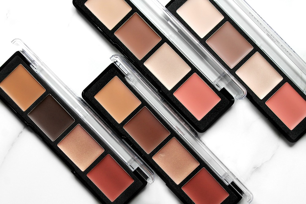pro sculpting face palettes in 50 (dark), 40 (Tan), 30 (medium), and 20(light).