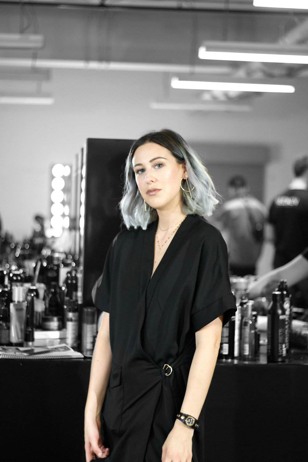 Amy Mckissock Backstage with Redken at Toronto Women's Fashion Week