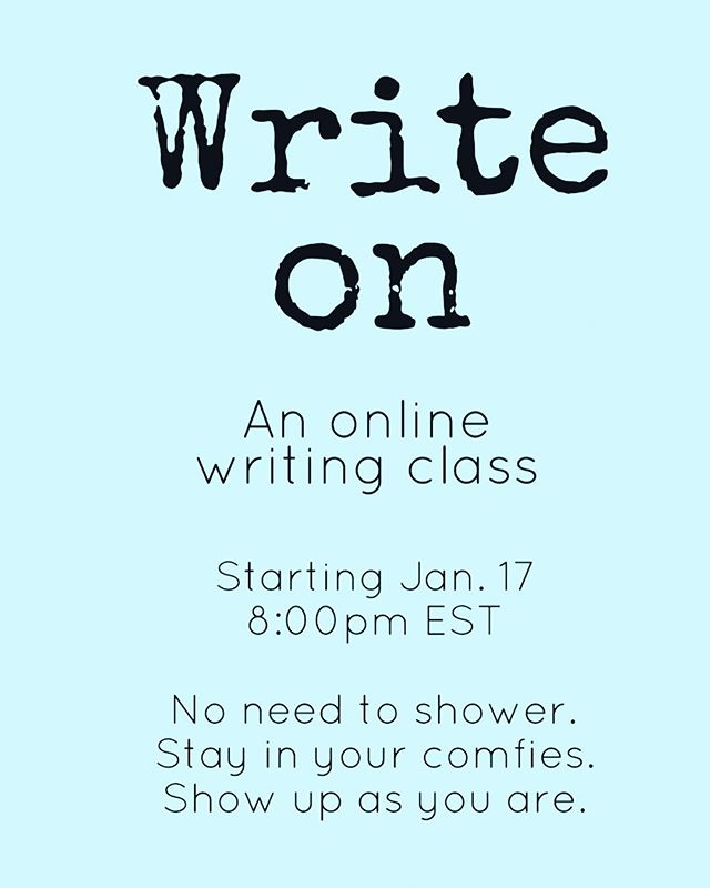 We show up as we are and get messy on the page. You connect in from the comfort of your home. It is community like no other. And no you do not need to be a writer. Just a little curious. 😘