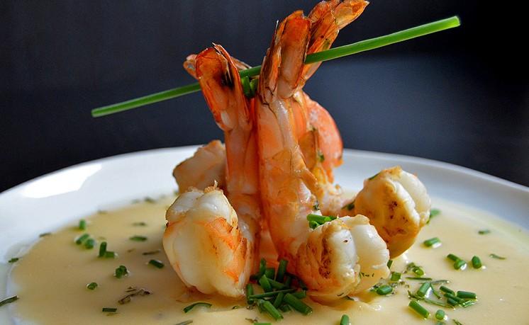 honeygood_marinated_shrimp_champagne _beurre_blanc_