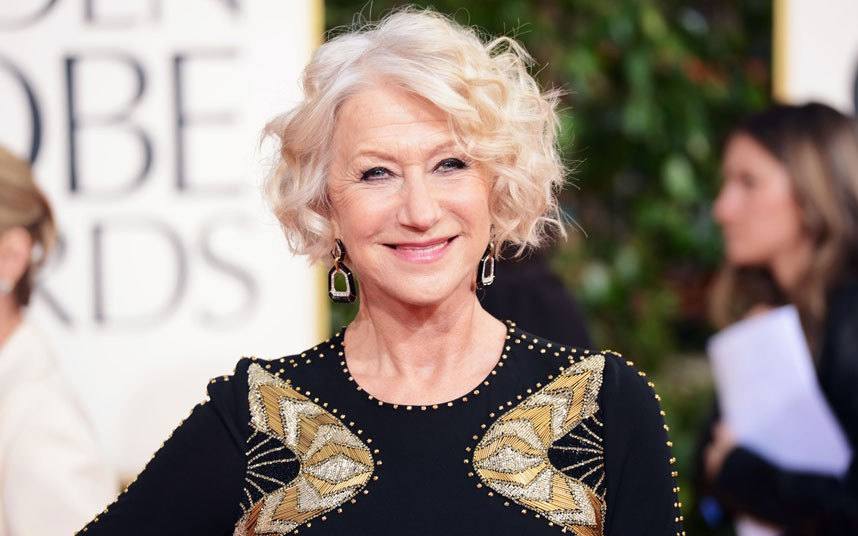 """Helen Mirren's """"secret"""" to staying slim and stunning at 69? Portion control."""