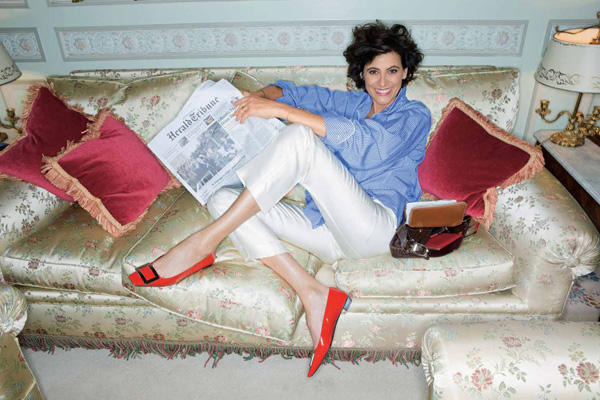 Inès de la Fressange at home via a French Girl In Seattle.  Inès is a French model, aristocrat, fashion designer, and perfumer. She was named to the International Best Dressed List Hall of Fame in 1998.