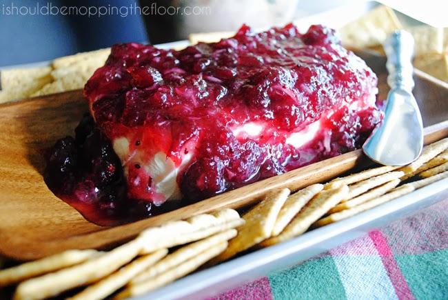 Cranberry Cream cheese dip