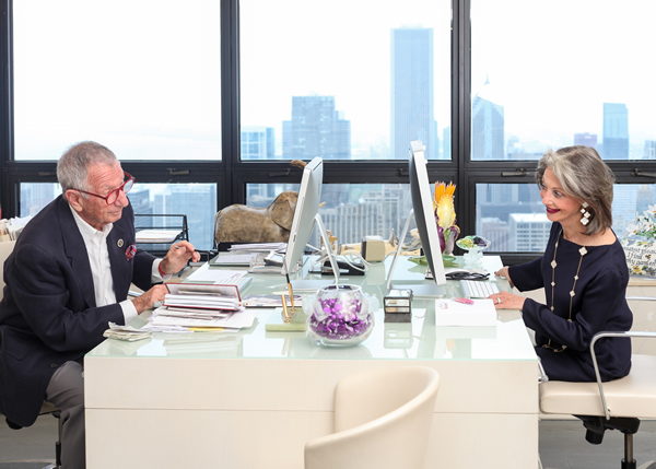 Shelly and Honey in their Chicago Office