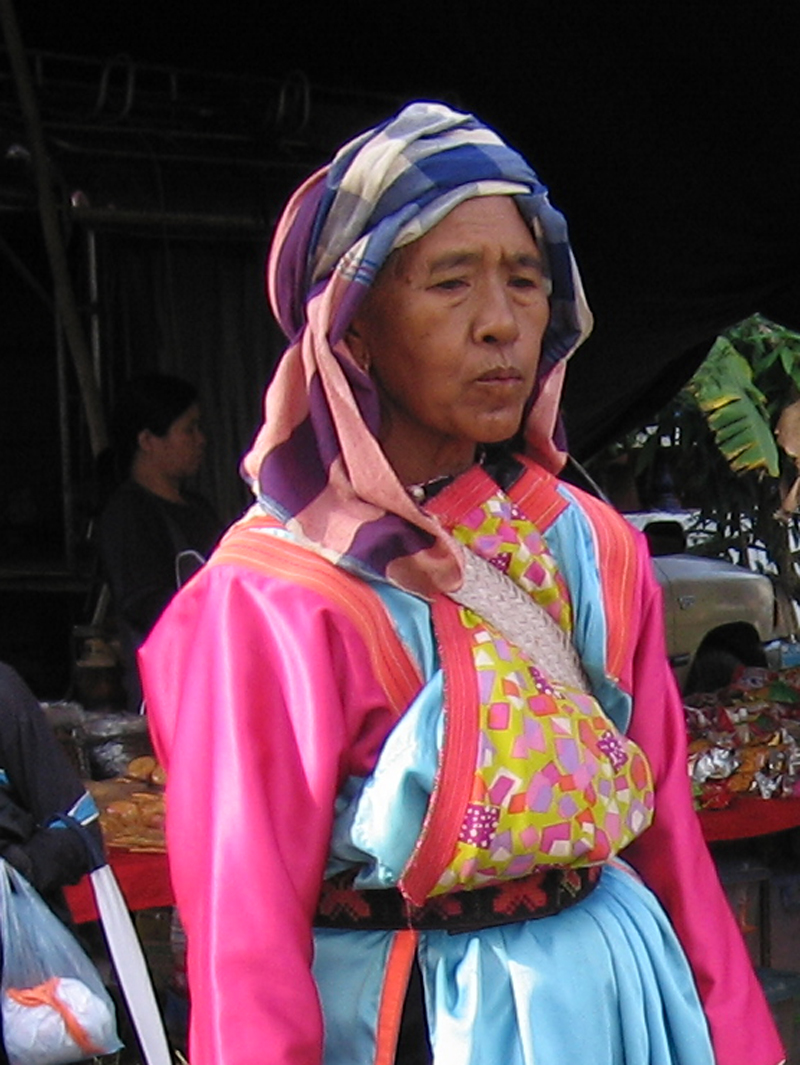 Hill tribe woman in Changdao, Thailand