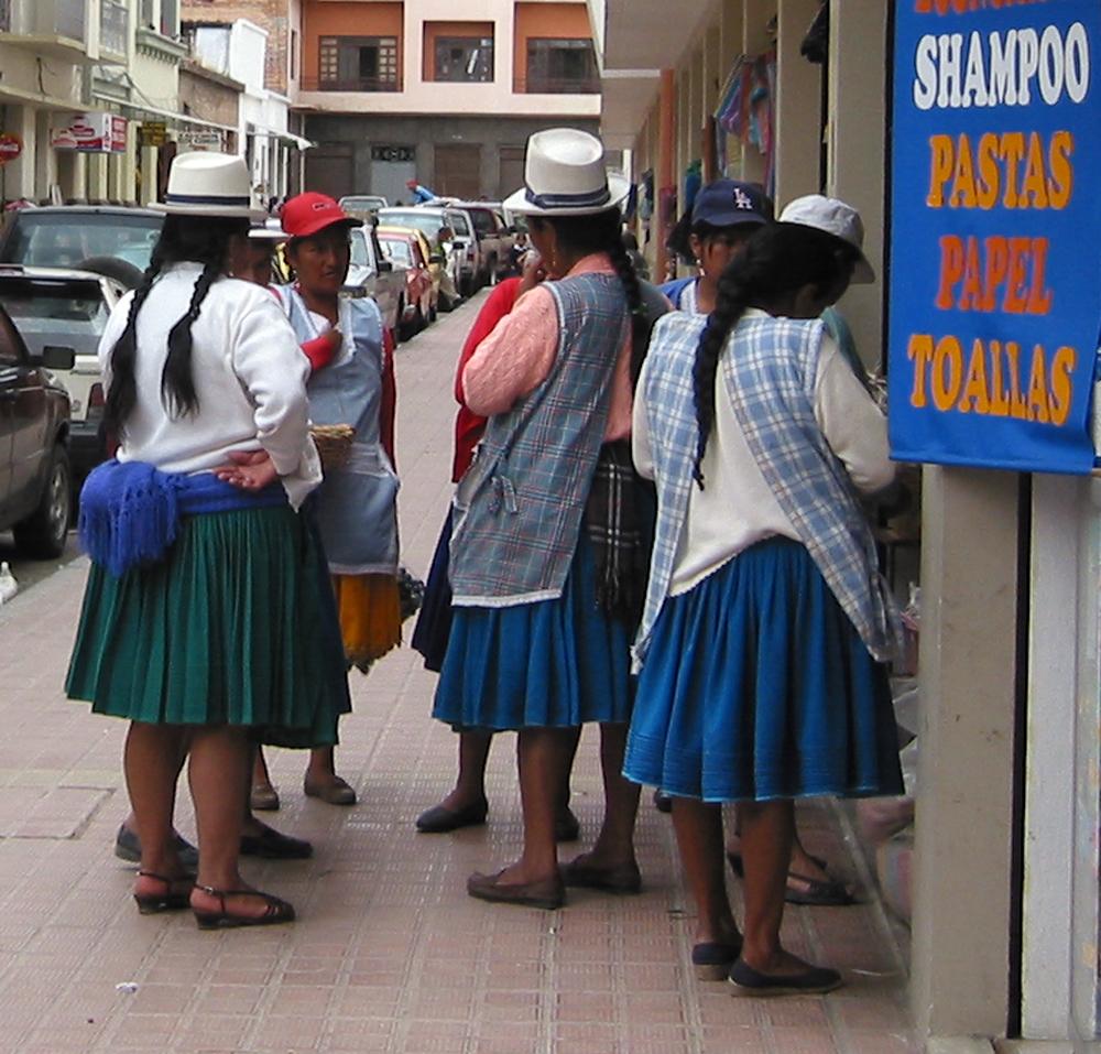 Indigenous people in Cuenca, Ecuador