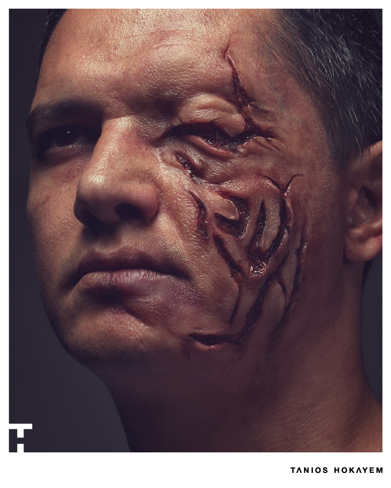 Injury Silicone Prosthetics Special Effects Makeup by Tanios Hokayem | Lebanese SFX Makeup Artist | #