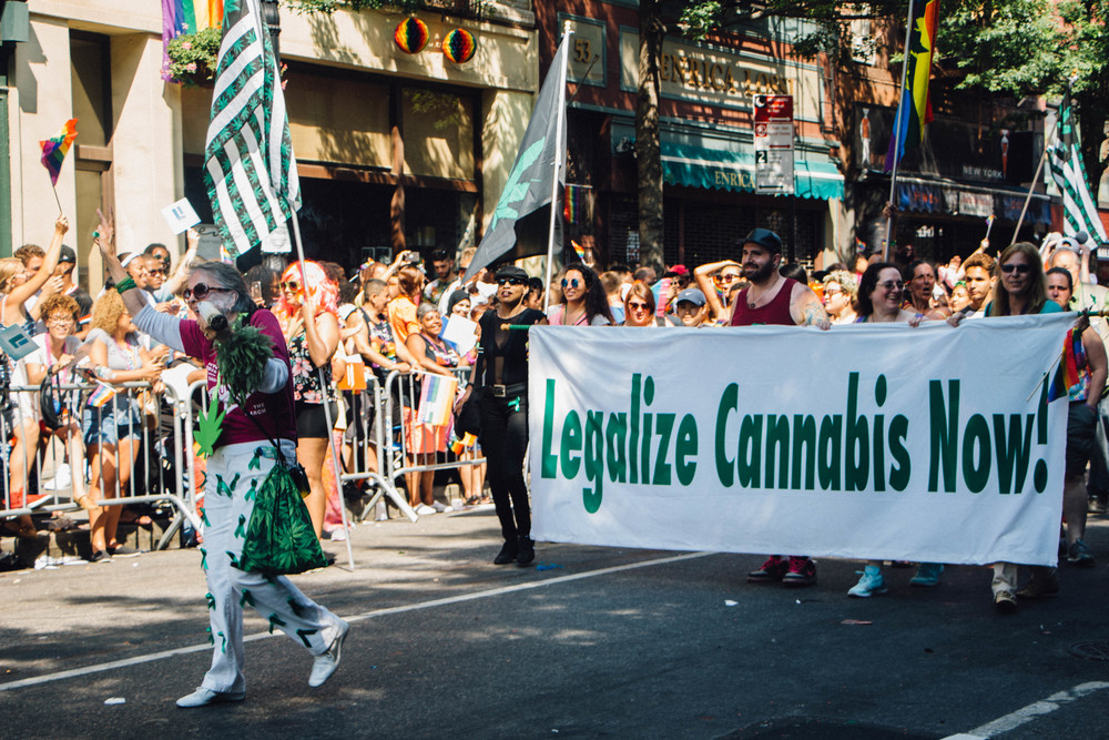 Supporters of all different causes marched in the parade.