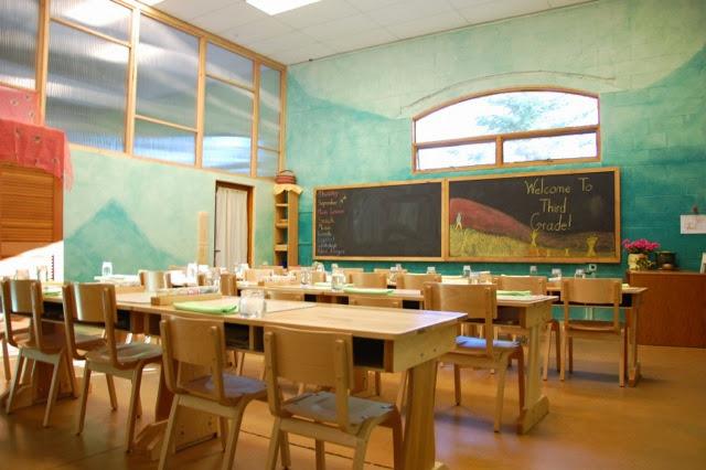 Beautiful School Room With Double Desks.JPG