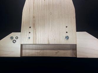 Adjustment points at bottom of desk leg