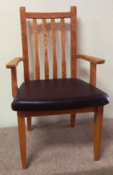 Cherry Neptune arm chair front
