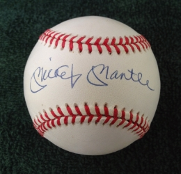 Mickey Mantle signed baseball