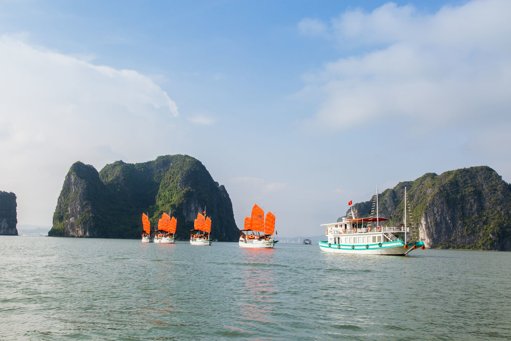 Great time on Halong bay - We had great time in Halong bay and Vietnam also. We booked one day trip in Halong bay with Lzalee cruises in August 2018. Everything was great with lunch , activitives ( caves ). The boat very clean . Our guide Dat was helpful, friendly and kind. Highlight recommend !