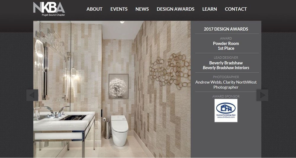 2017 NKBA Design Award Winning Powder Room
