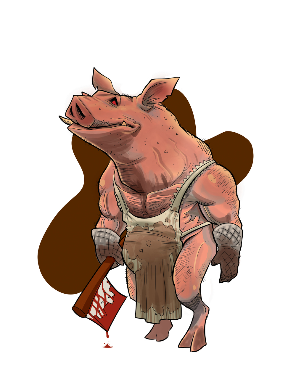 """The Pig Man""   Midnight Massacre Character Design"