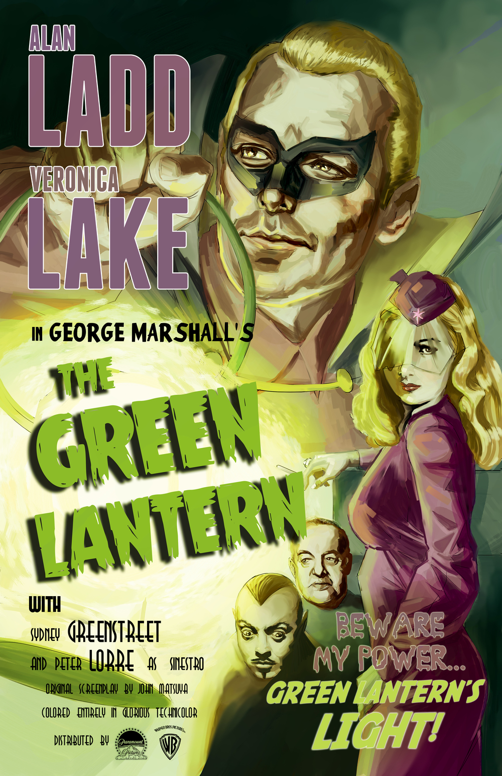 """The Green Lantern"" throwback poster  Comic Book Hideout; Fullerton, CA"