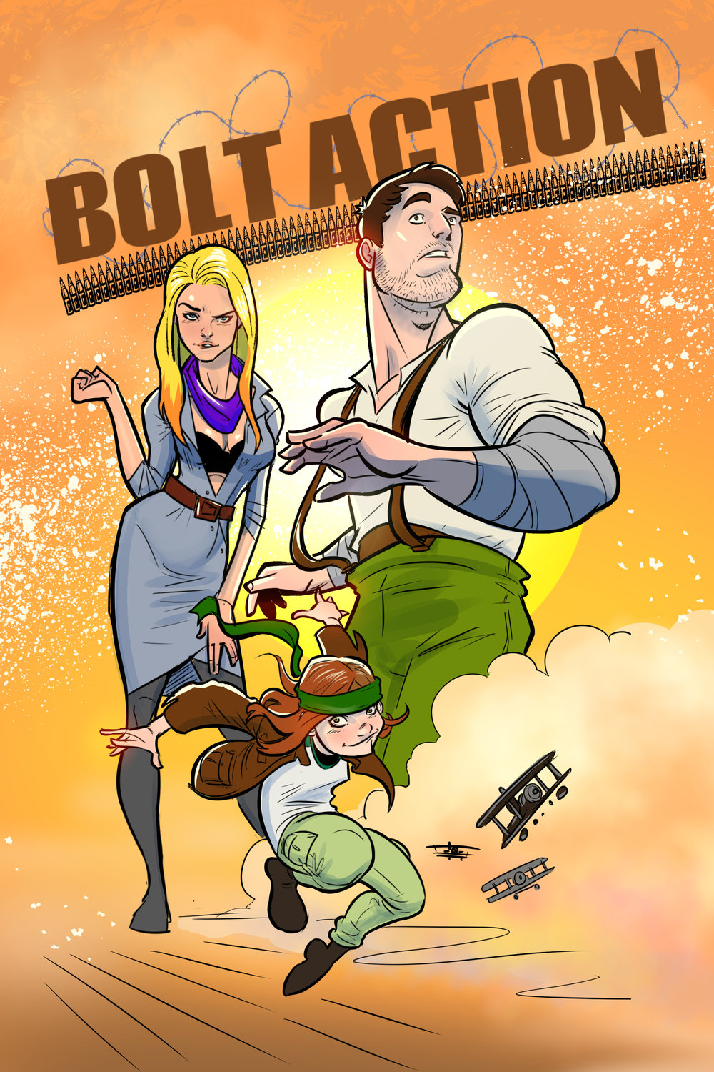 """BOLT ACTION!""   The Matsuya Brother's high flying action/adventure webcomic. The first issue is available on Tapastic.com."