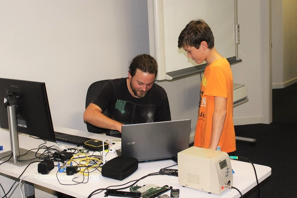Learning young... Future techie in training