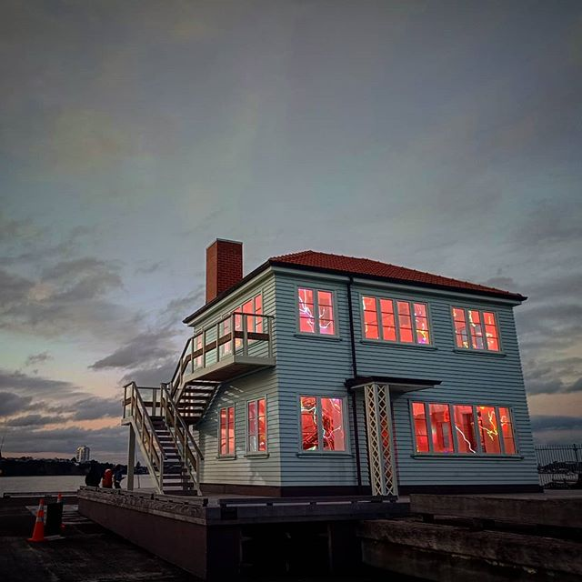 House on the Harbour.  Lit. From within.  On days like these.  Remember. You continue to shine.