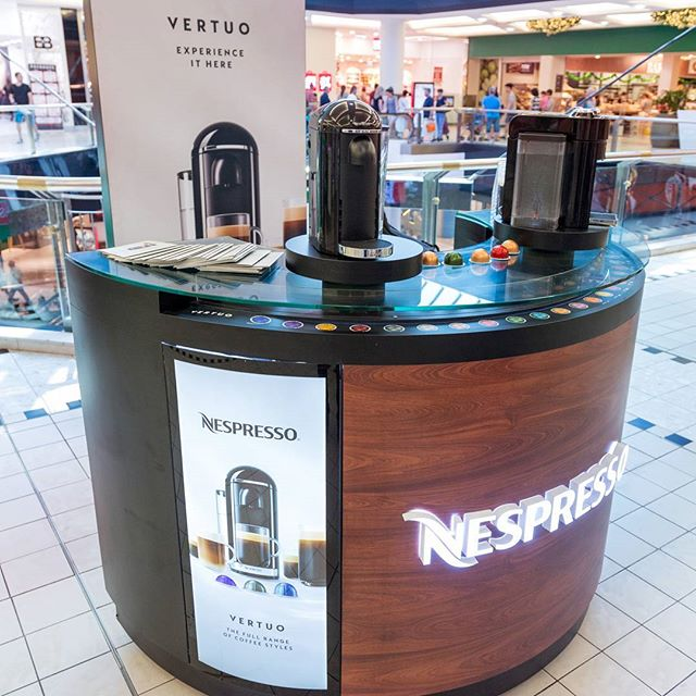 Loving the new installation at Westfield Parramatta for Nespresso's new Vertuo  #nespresso #displaywise #vertuo #westfield #coffee #coffeelover #coffeetime