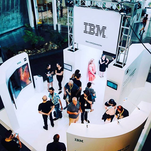 IBM stand at Pause Fest 2018 #Displaywise @Displaywise #IBM #tech #innovation #freethinkers