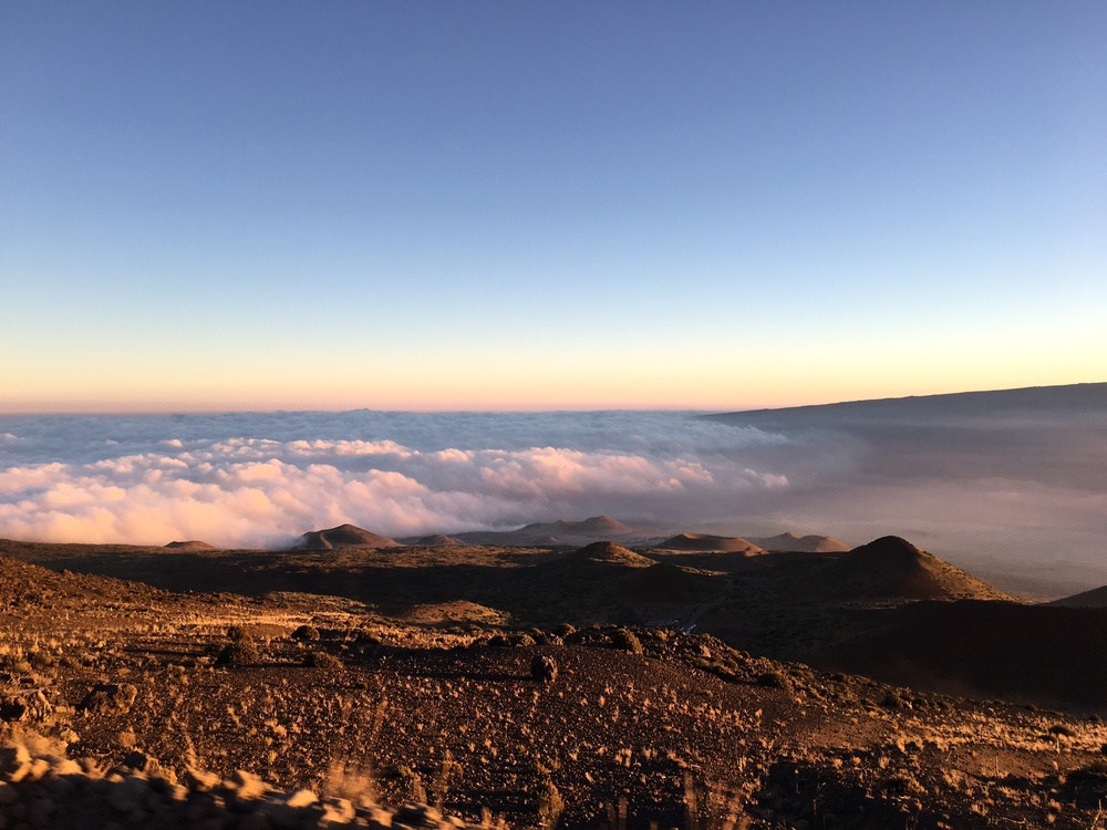 On the top of Mauna Kea, above the clouds