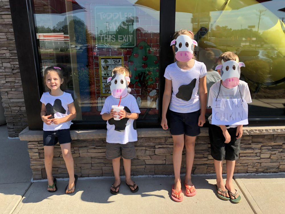 This was an interesting adventure! Cow appreciation day at Chick-fill-a.