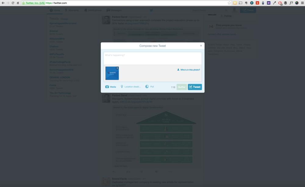 3.5 ❧ Image preview is displayed on tweet