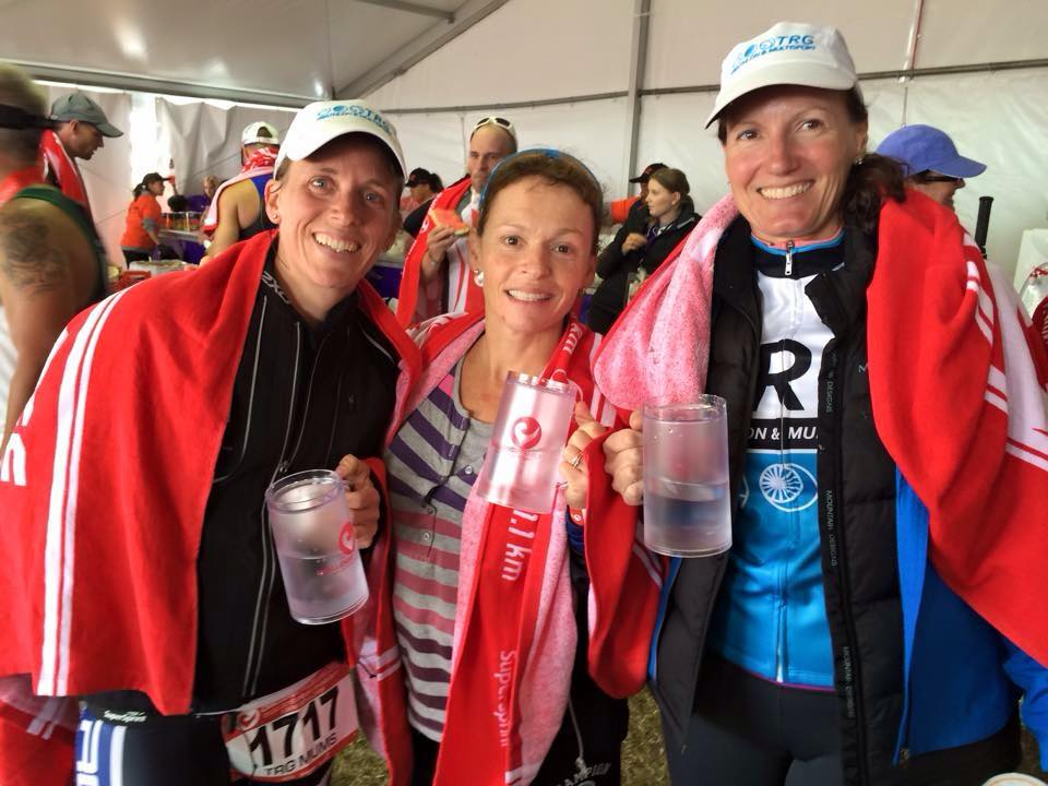 Dianne - TRG Mums Team, cycle leg 8 weeks after son Ronan was born, Challenge Melb Triathlon, 2015.jpg