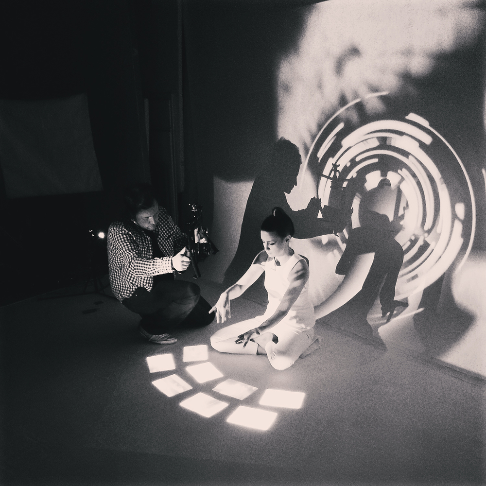 Video mapping in film set, 2015.