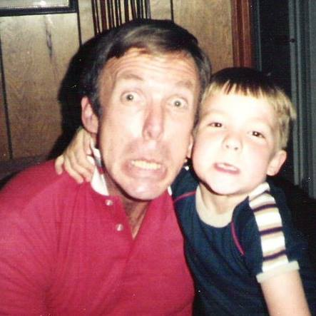 Dad and I, some time around...1985? '86?