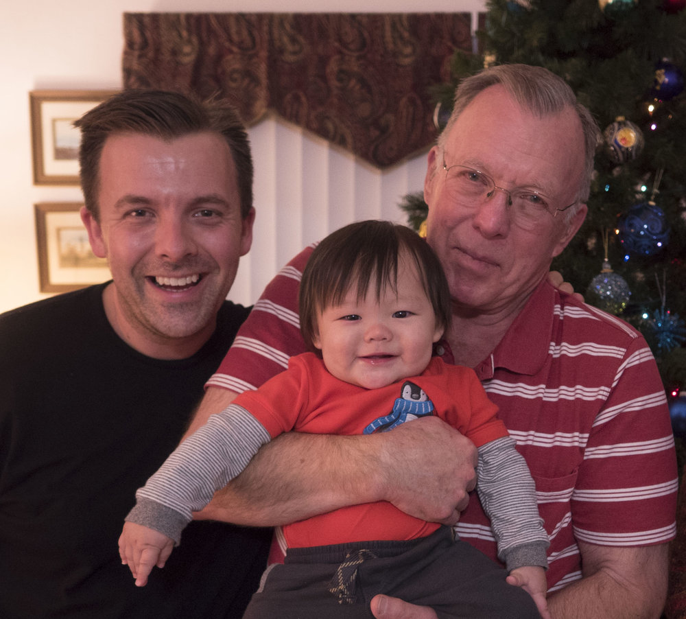 This past Christmas; three Bailey Boys.