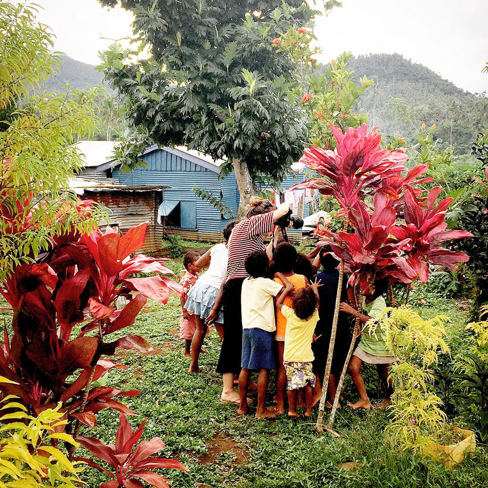 Shooting in the Nayavutoka village, Fiji for Oxfam