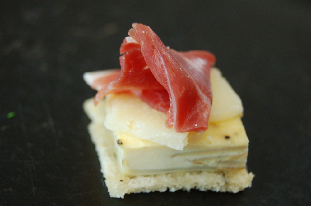 Toast with tortilla manchego and serrano ham