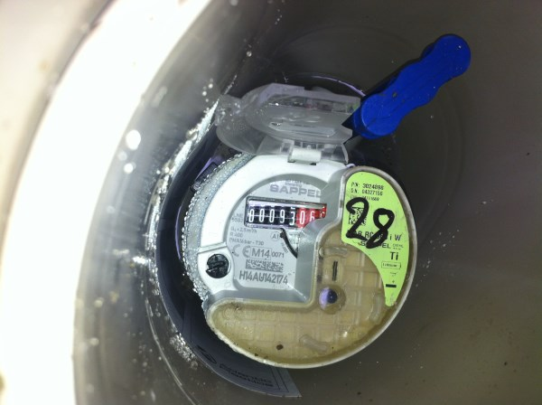 water meter with transponder