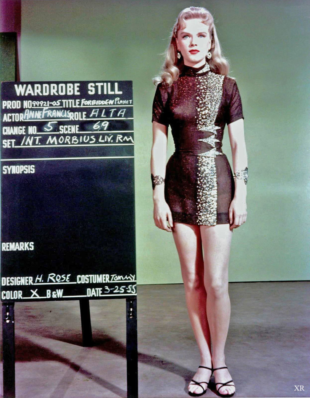 Anne Francis, Forbidden Planet costume fitting