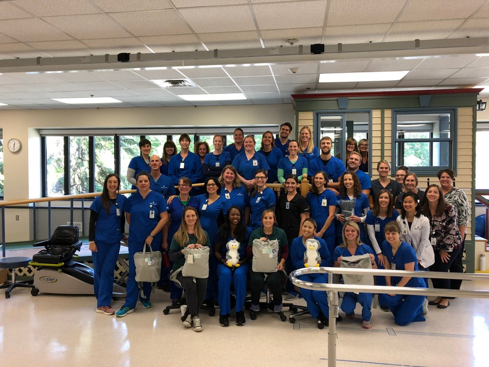 Allina Health therapies donated their time and talent this fall to pack 102 PAB'S PACKS which were shipped to our children's hospital partners in MN, IA, NY, CA and FL.