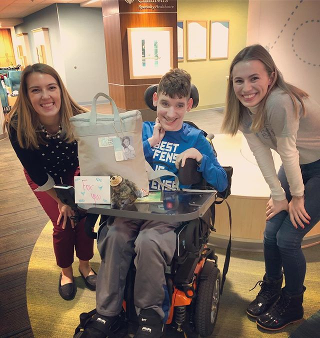 Meet Nick! Nick loved receiving his PAB'S PACKS  at Gillette Children's Bingo night! He mentioned the handwritten card from a volunteer was his favorite item. We've got your back Nick! #wegotyourback #pabspacks