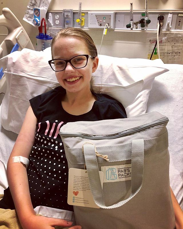 Meet Abby! Abby is our newest PAB'S PACKS recipient and was recently diagnosed with Crohn's Disease. After an emotional weekend in the hospital, Abby found joy and comfort through her PAB'S PACKS. Welcome to the PABS PACKS family Abby!