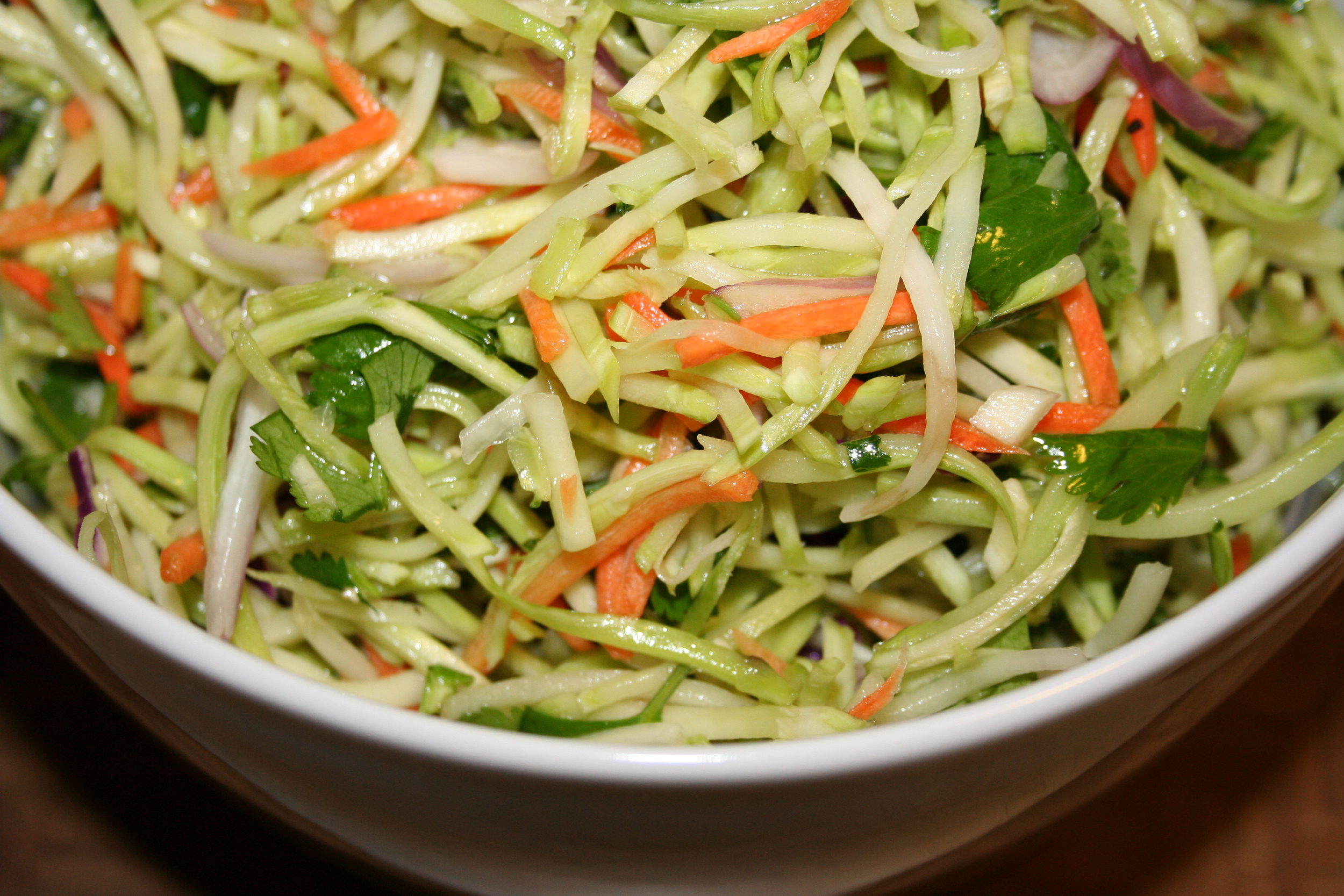 Broccoli Slaw with Mint & Cilantro
