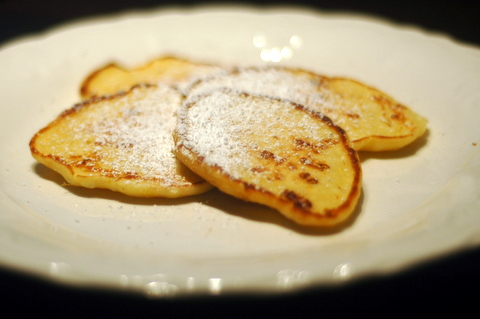 Cottage Cheese Pancakes with Powdered Sugar